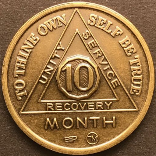 10 Month Sobriety Chip BRONZE