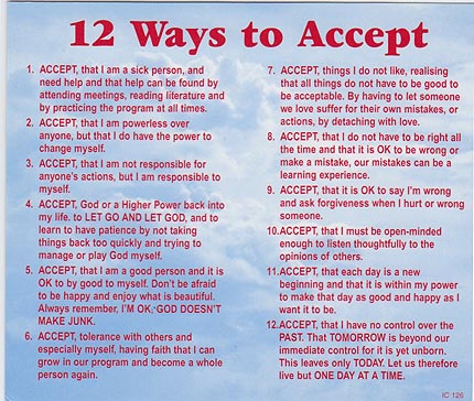 12 Ways to Accept