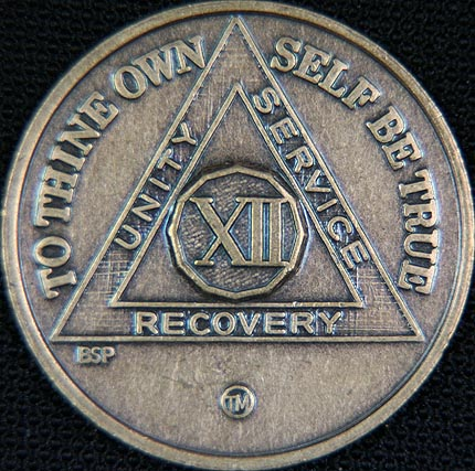12 Year Bronze Sobriety Chip