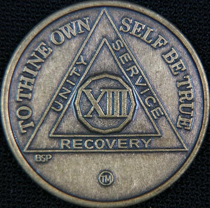 13 Year Bronze Sobriety Chip