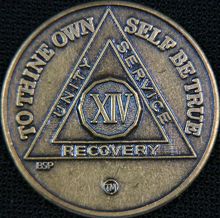 14 Year Bronze Sobriety Chip