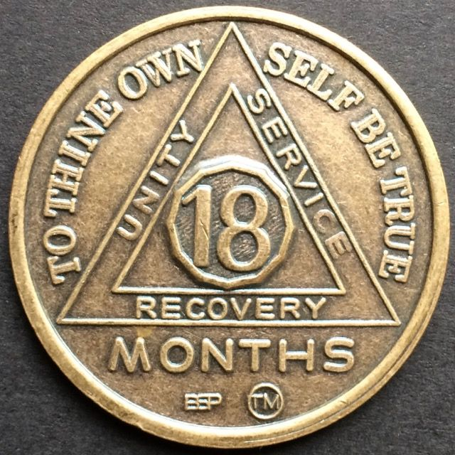 18 Month Bronze Sobriety Chip