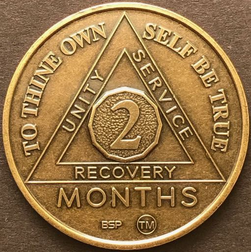 2 Month Sobriety Chip BRONZE