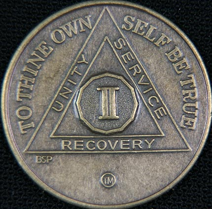 2 Year Bronze Sobriety Chip