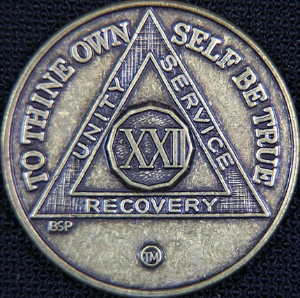 22 Year Bronze Sobriety Chip