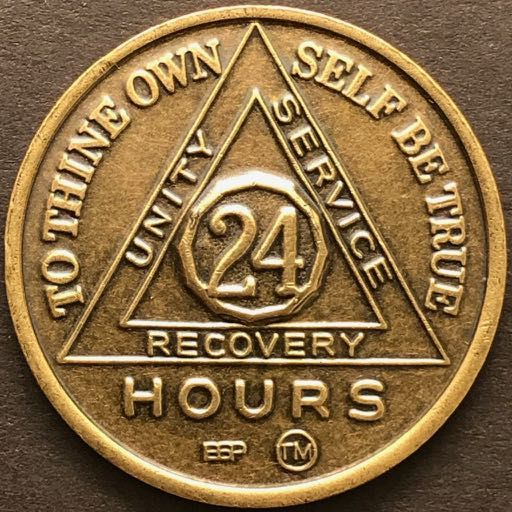 24 Hour BRONZE Sobriety Chip