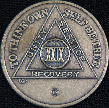 29 Year Bronze Sobriety Chip
