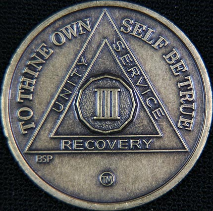 3 Year Bronze Sobriety Chip