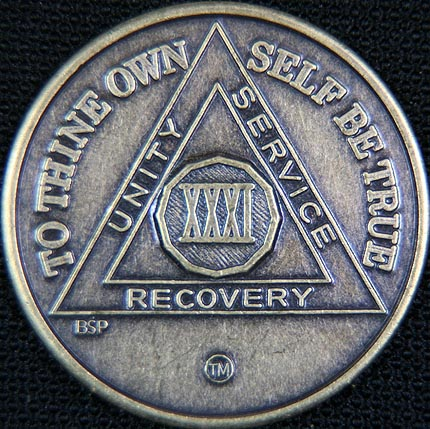 31 Year Bronze Sobriety Chip