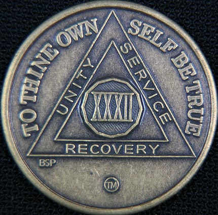 32 Year Bronze Sobriety Chip
