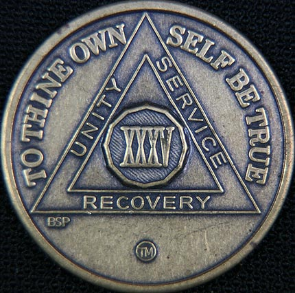 35 Year Bronze Sobriety Chip