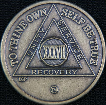 37 Year Bronze Sobriety Chip