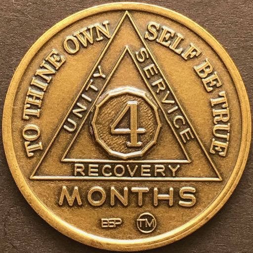 4 Month Sobriety Chip BRONZE