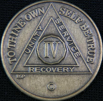 4 Year Bronze Sobriety Chip