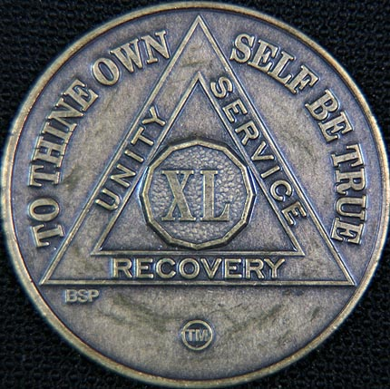 40 Year Bronze Sobriety Chip
