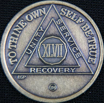 47 Year Bronze Sobriety Chip