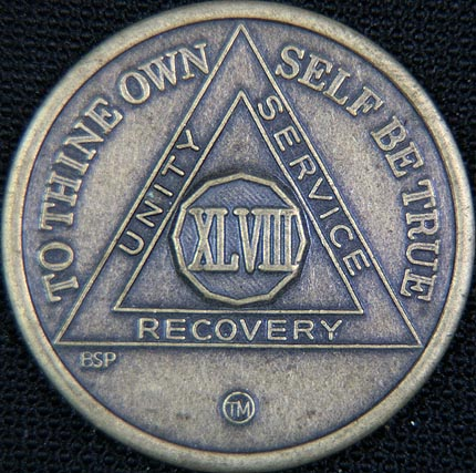 48 Year Bronze Sobriety Chip