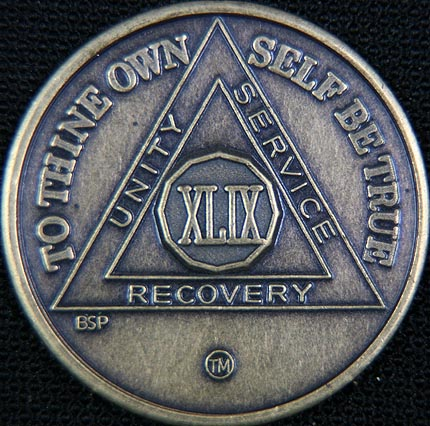 49 Year Bronze Sobriety Chip
