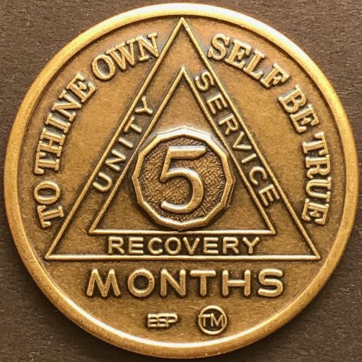5 Month Sobriety Chip BRONZE