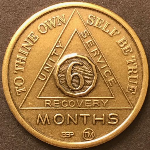 6 Month Sobriety Chip BRONZE