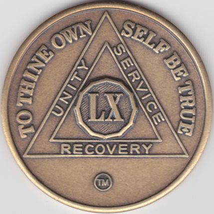 60 Year Sobriety Medallion