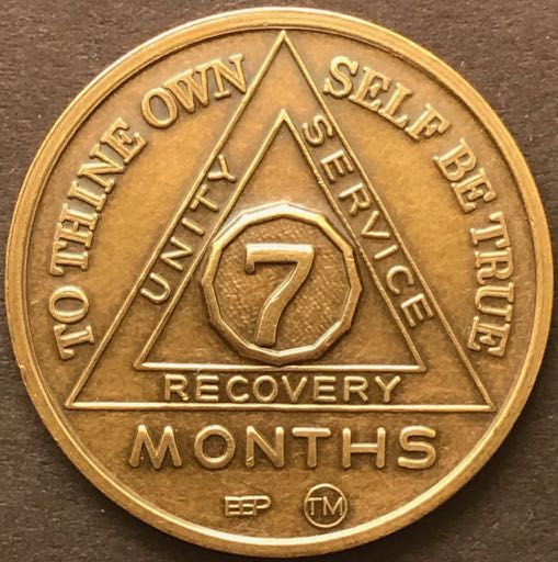 7 Month Sobriety Chip BRONZE