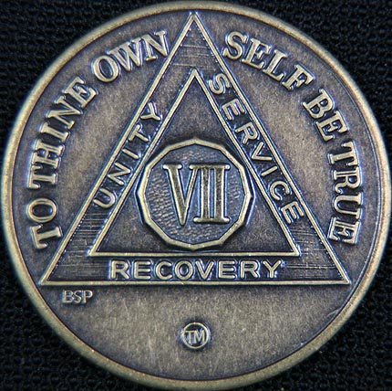 7 Year Bronze Sobriety Chip