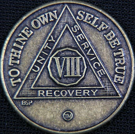 8 Year Bronze Sobriety Chip
