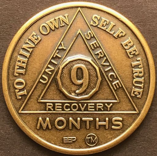 9 Month Sobriety Chip BRONZE