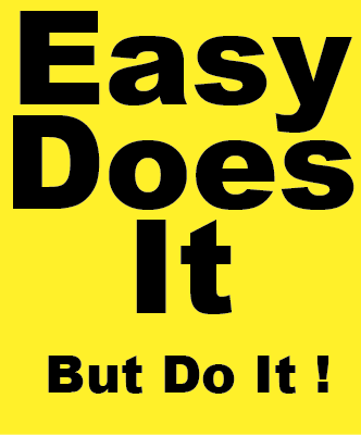 Easy Does It, But Do It ! Magnet