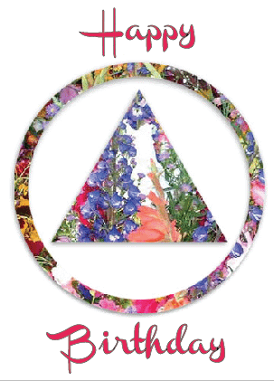 Happy Birthday (Floral AA Logo)
