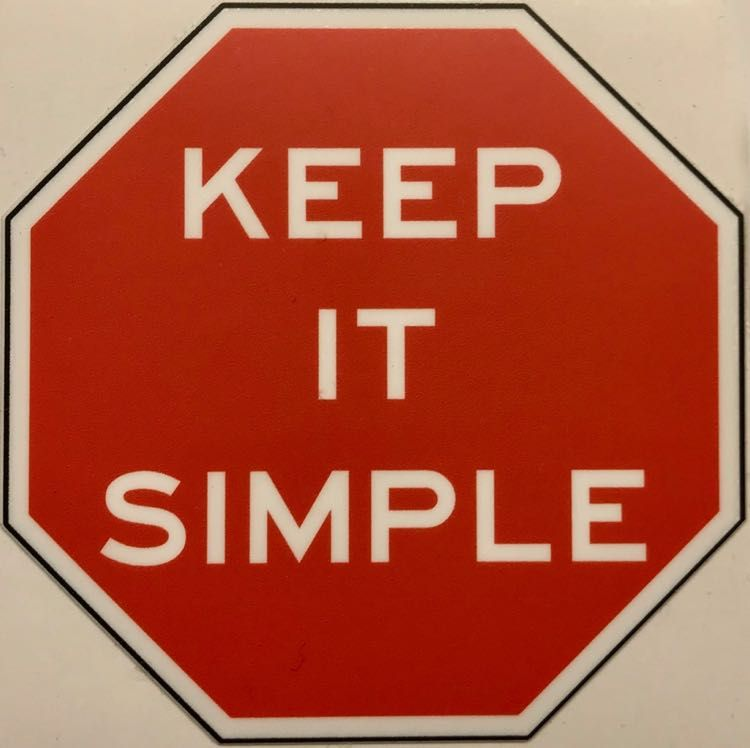 Keep it Simple Magnet