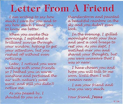Letter From a Friend