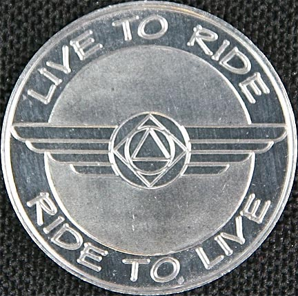 Live to Ride, Ride to Live Aluminium Chip