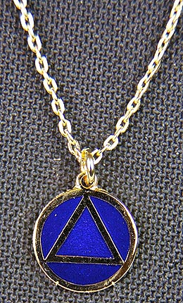Necklace AA Blue & Gold