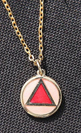 Necklace AA Red on Pink