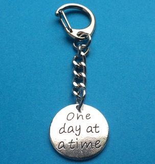 One Day at a Time Keychain