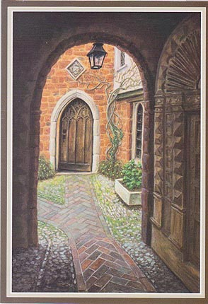 Open Door on Courtyard