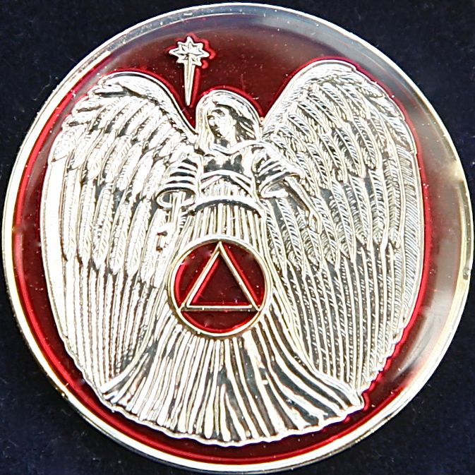 Recovery Angel Tri Plate Red