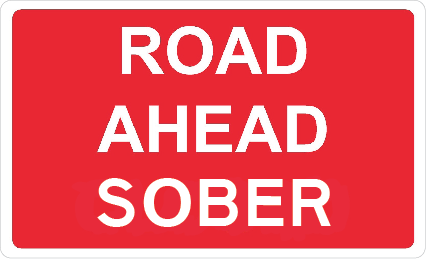 Road Ahead Sober (Fridge Magnet)