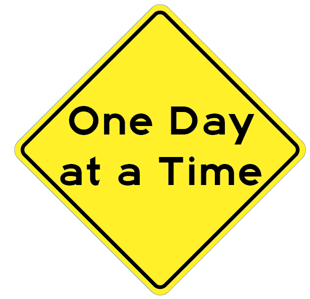 Road sign One Day at a Time Magnet