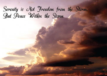 Serenity is Not Freedom From the Storm