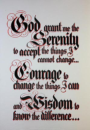 Serenity Prayer A3 Large Laminated