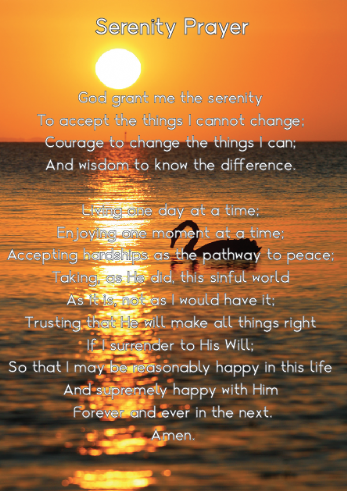 Serenity Prayer (Full)
