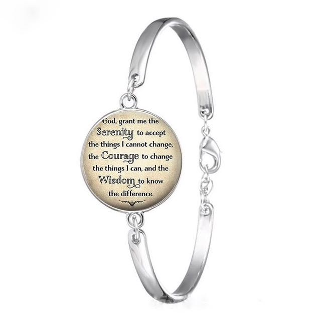 Serenity Prayer Glass Front Bracelet