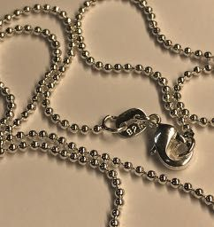 Solid Silver Ball Chain
