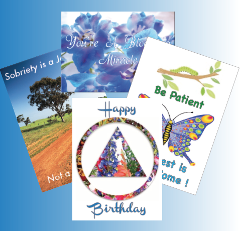 TEN Recovery Greeting Cards of Your Choice.