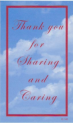 Thank You For Sharing and Caring