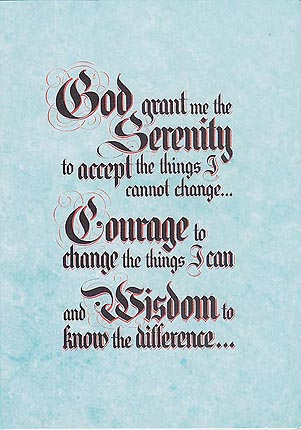 The Serenity Prayer (Blue)