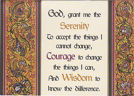 The Serenity Prayer (Brown)